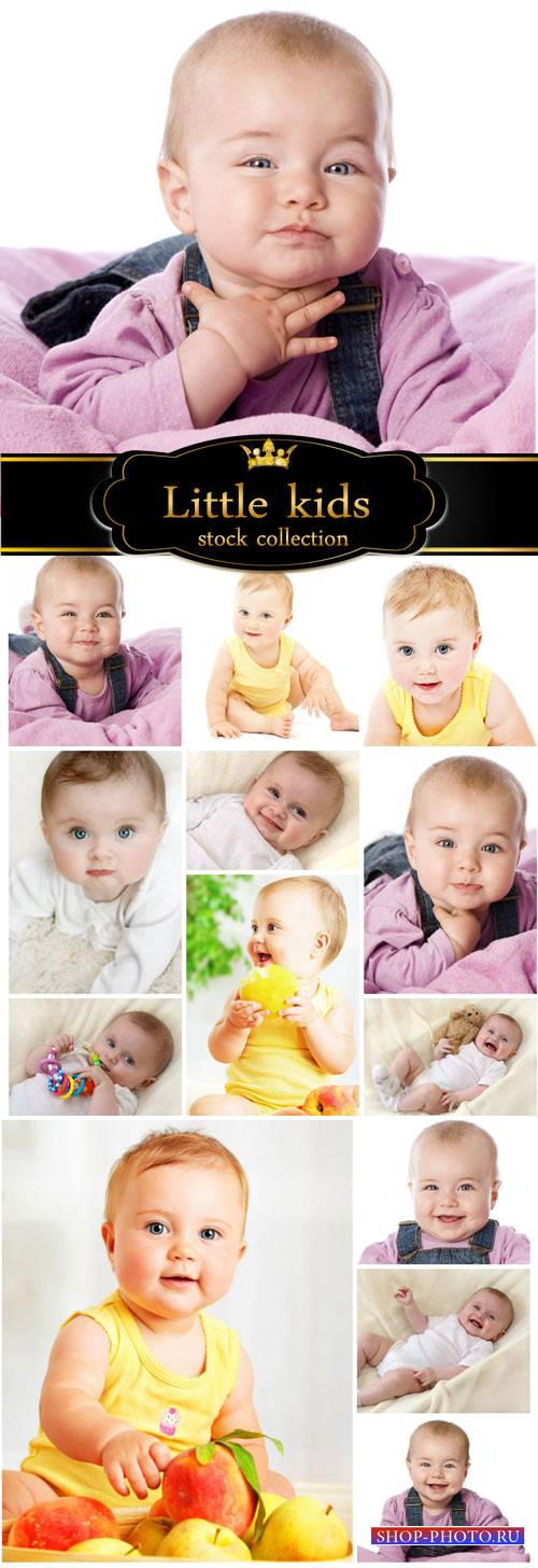 Funny little kids - children stock photos