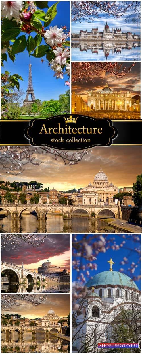 Architecture, bridges, and buildings - stock photos