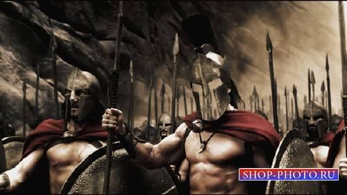Шаблон для фотошопа - Мужественный воин Спарты