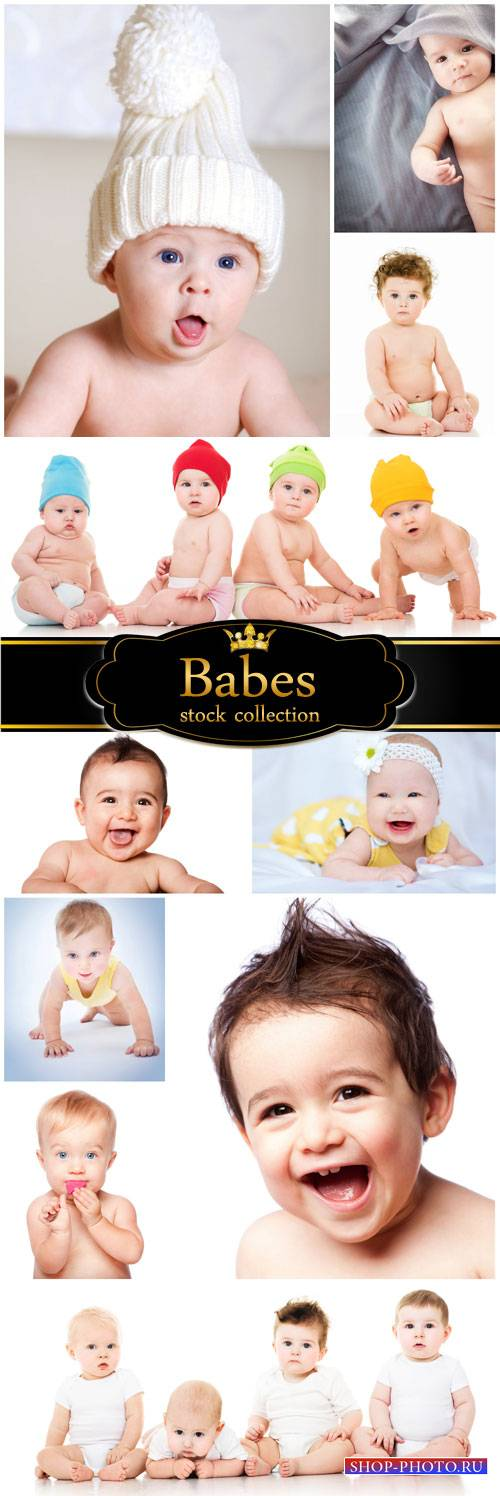 Little kids, boys, girls - stock photos