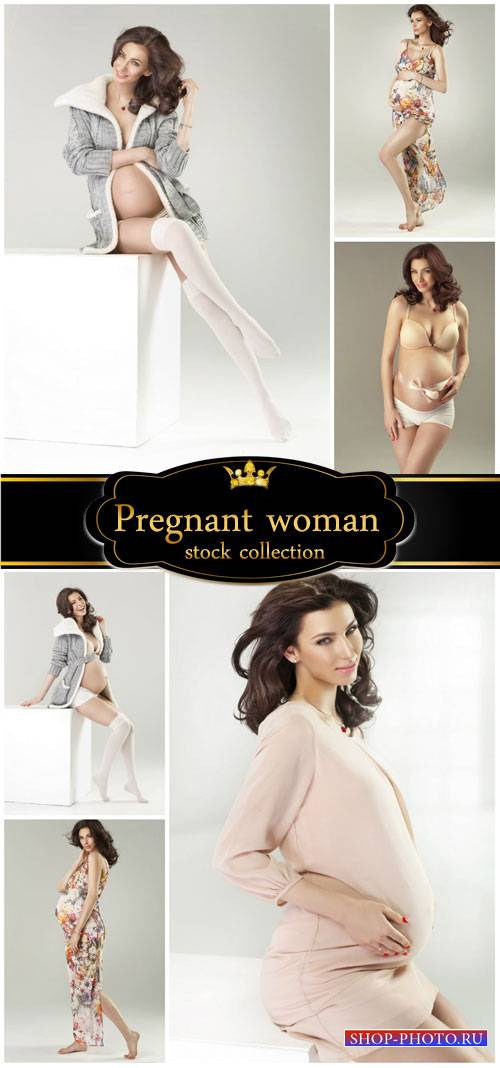 Charming pregnant women - stock photos