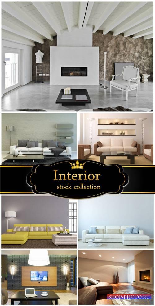 Interior, sofas, tables - stock photos