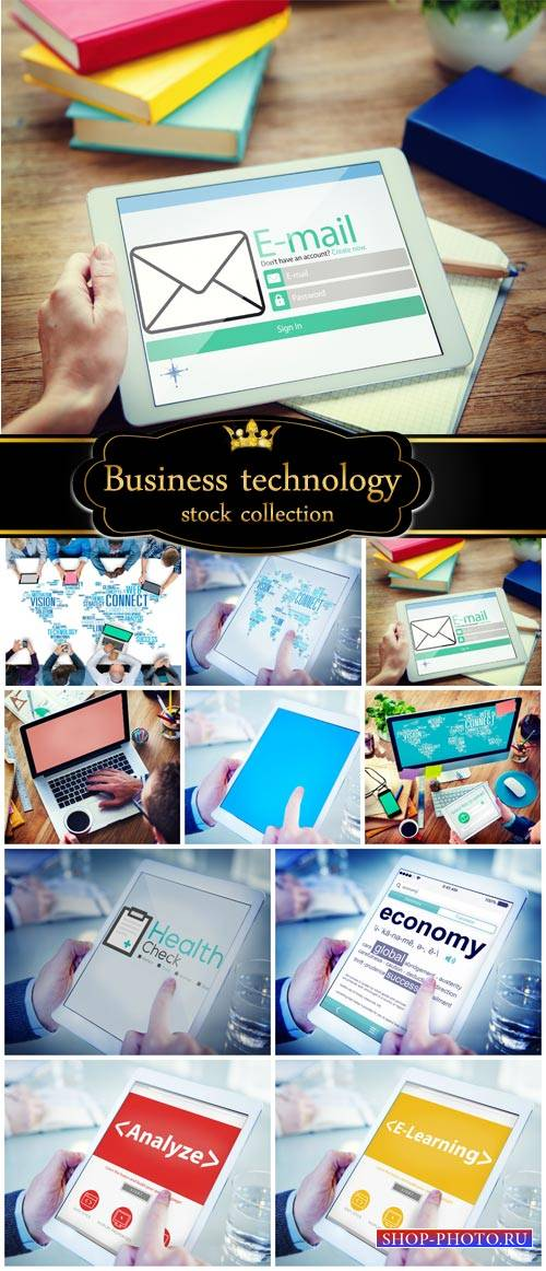 Business and modern technology - stock photos