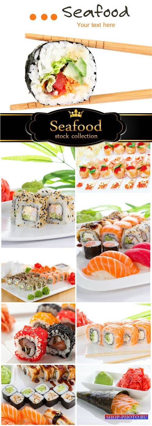 Sushi, Seafood - stock photos
