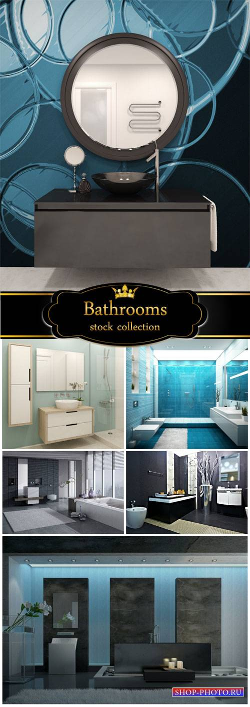 Bathrooms, interior - stock photos