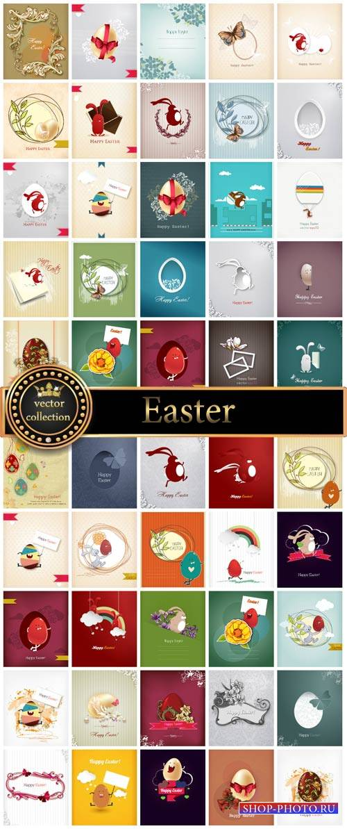 Collection of vector Easter