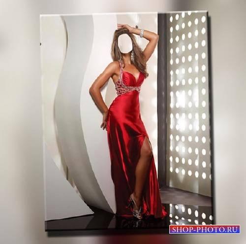 PSD шаблон для девушек - В длинном красивом платье