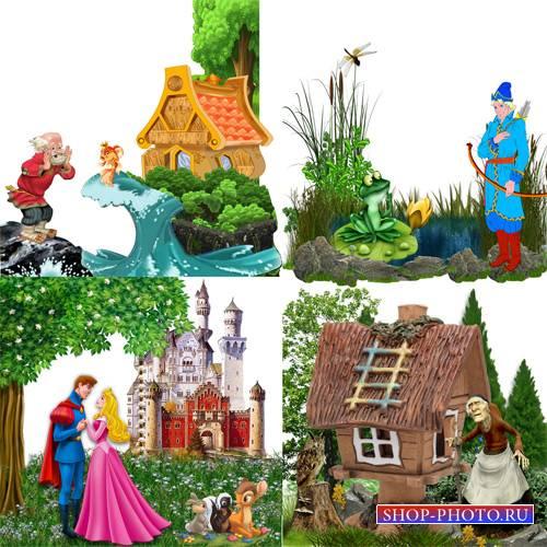 Клипарт – кластеры со сказочными героями