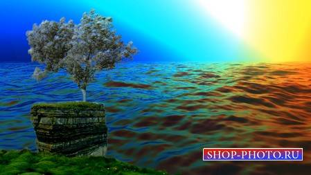 Футаж - Шторм на море