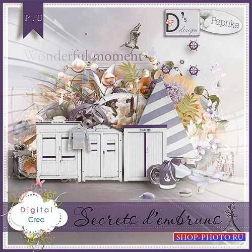 Морской скрап-комплект - Secrets d'Embruns