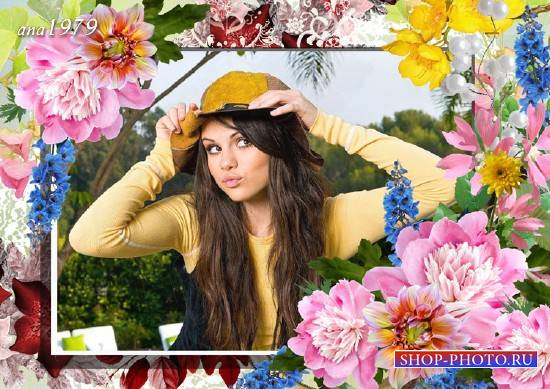 Рамка для photoshop - Магия цветов