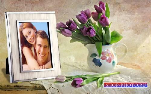 Фото рамка - Весенние цветы