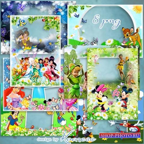 Набор детских png рамок для фотошопа - Мир добрых мультиков Диснея (часть 2 ...