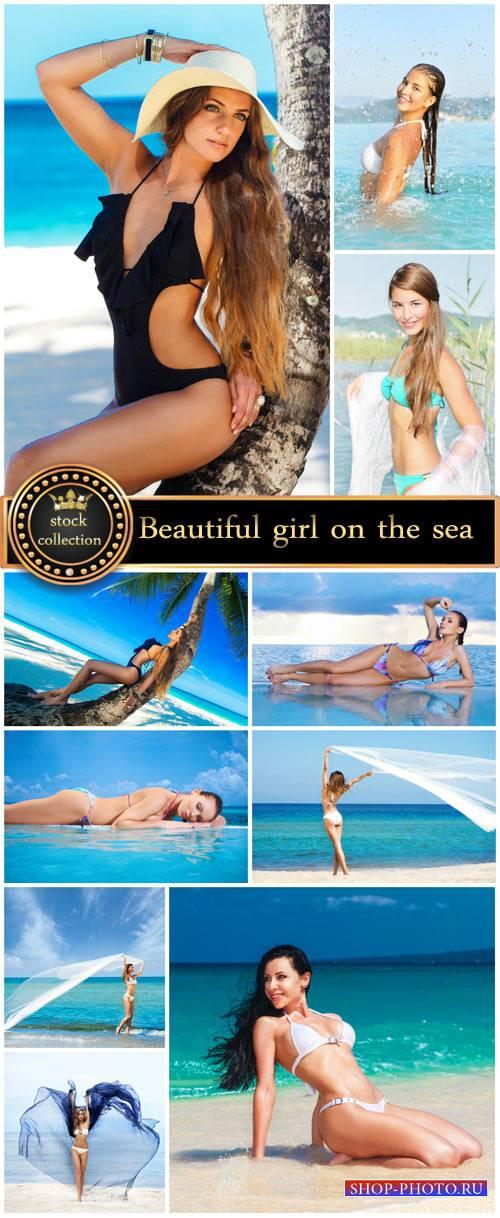 Beautiful girl in swimsuit #5 - Stock Photo