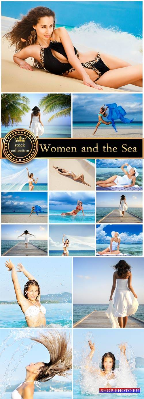 Women and the sea, seaside - stock photos