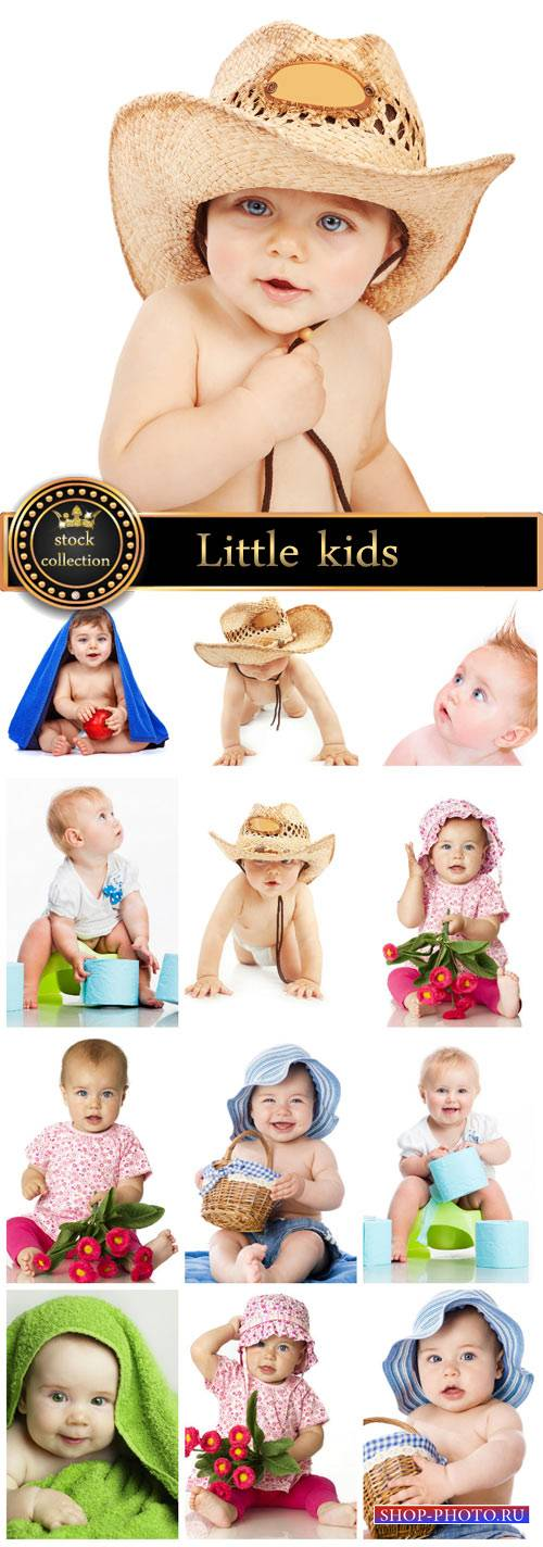 Funny little children - stock photos