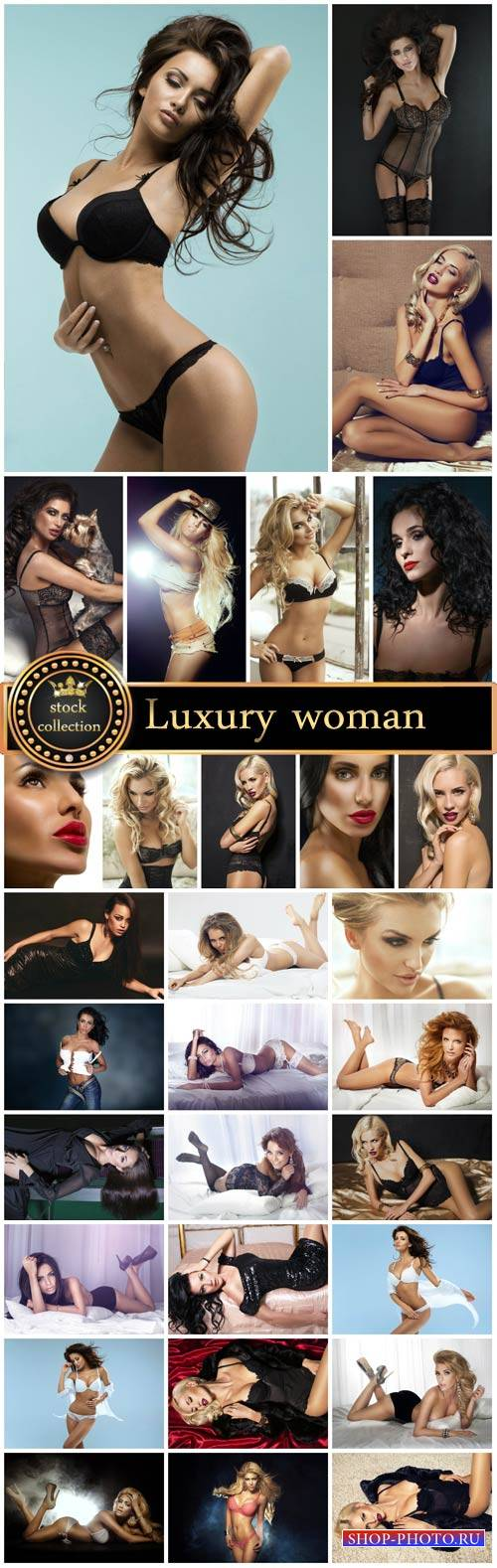 Luxury woman, sexy girl - Stock Photo