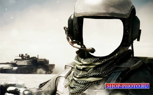 PSD шаблон для мужчин - Форма танкиста