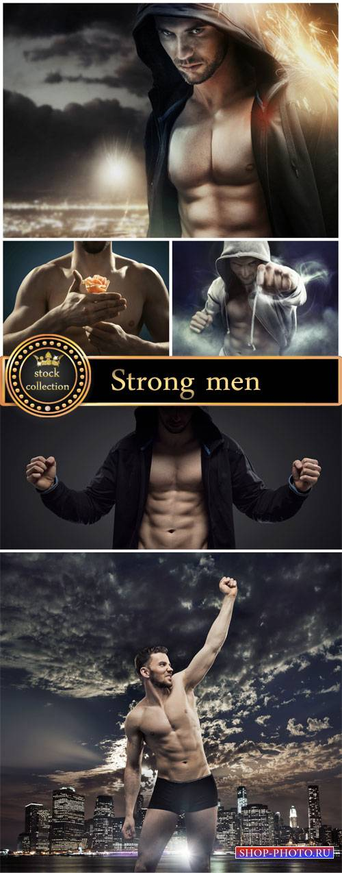 Strong men, creative - stock photos