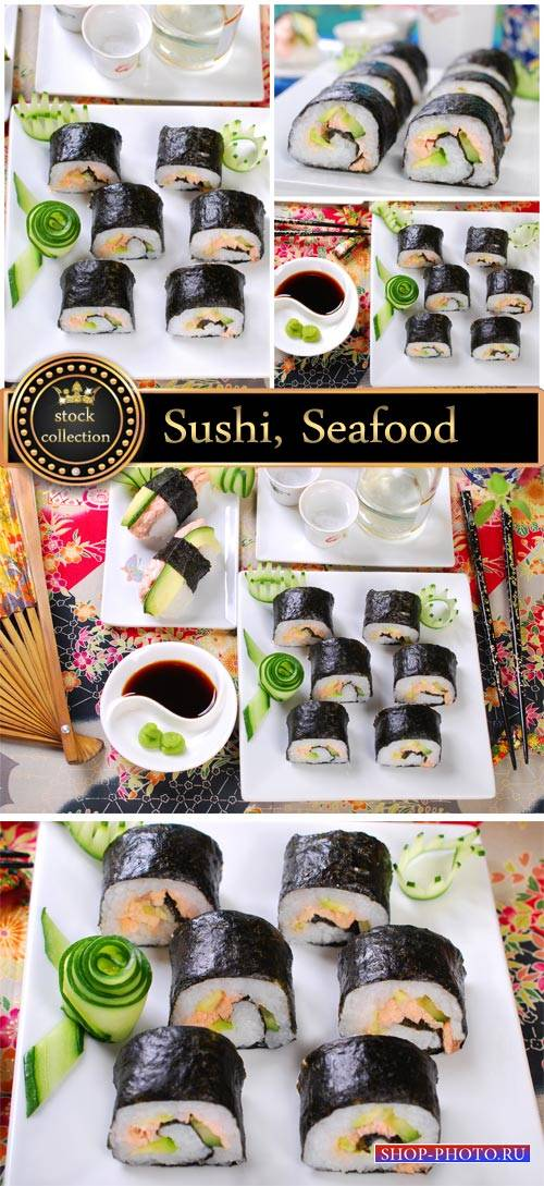 Sushi, seafood #4- stock photos