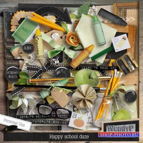 Школьный скрап-комплект - Happy school Daze