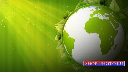 Футаж - Зелёная планета