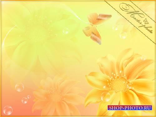 Многослойный PSD исходник для фотошопа - Порхание лета
