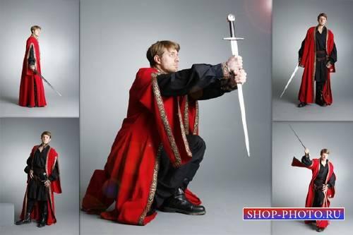 Клипарты для фотошопа - Воин с мечом