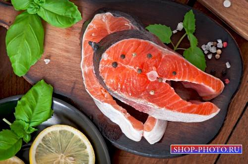 Red fish and spices - Stock Photo