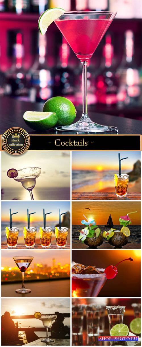 Cocktails, Martini - stock photos