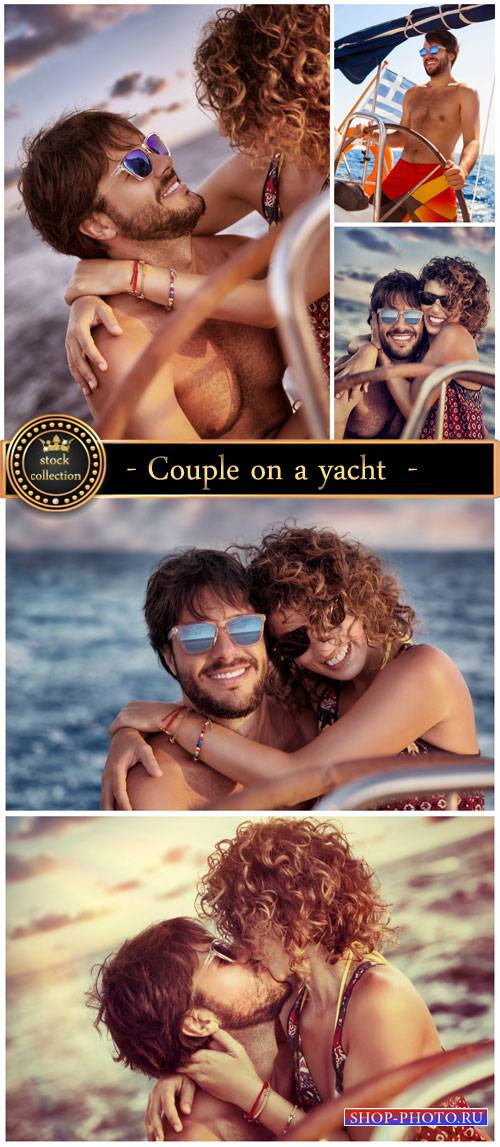 Couple on a yacht - Stock Photo