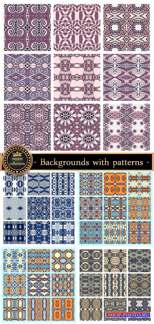 Vector background with patterns, geometric patterns