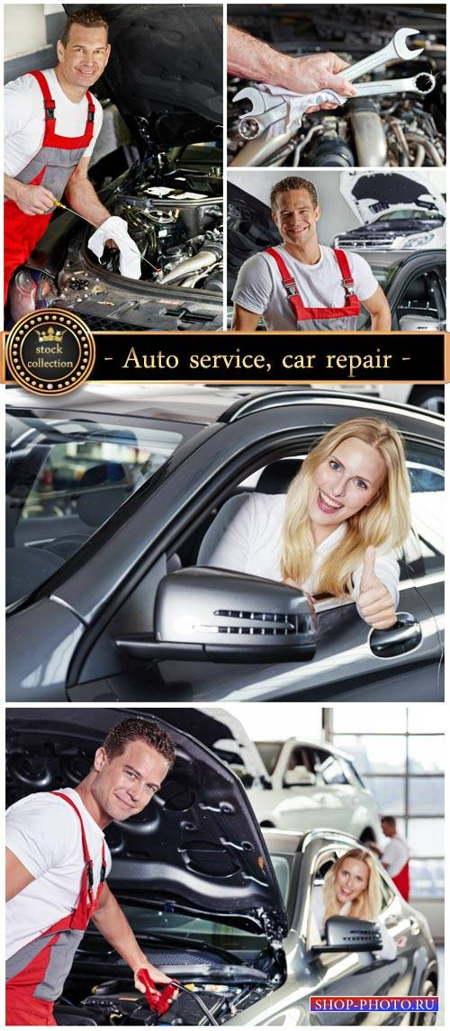 Car workshop, repair machine - Stock photo