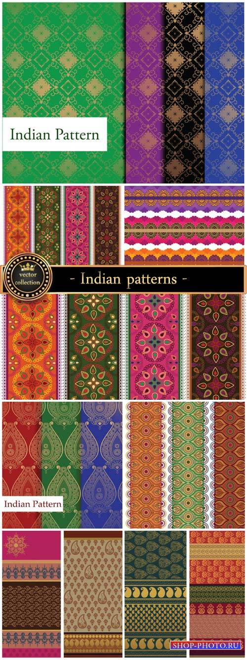 Vector background with Indian patterns
