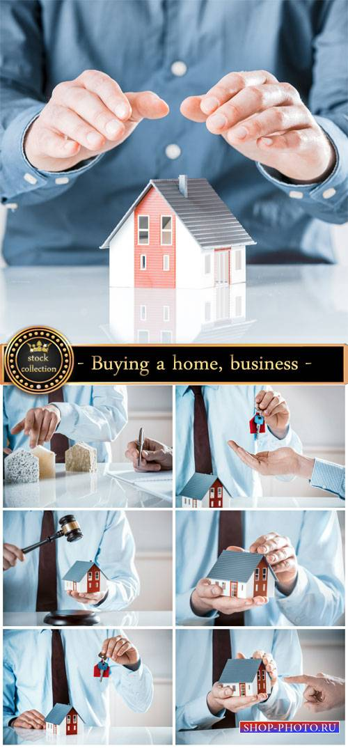 Buying a home, business - stock photos