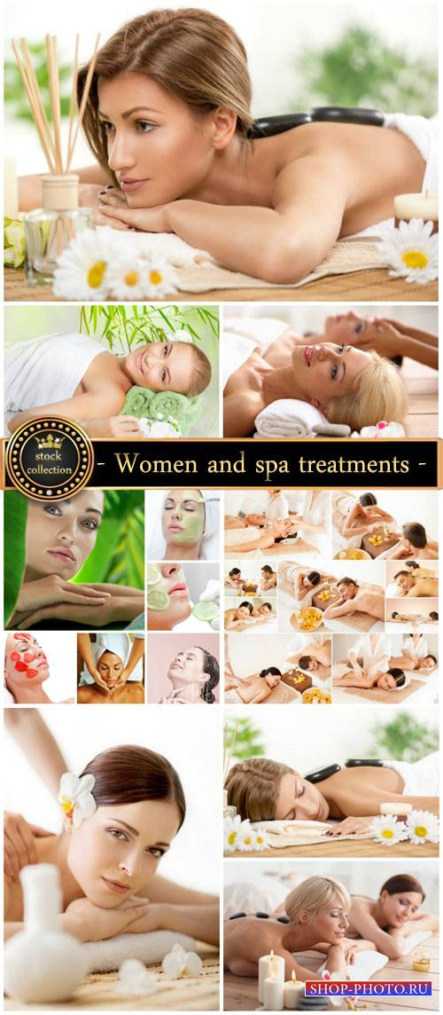 Women and spa treatments, health and beauty - stock photos