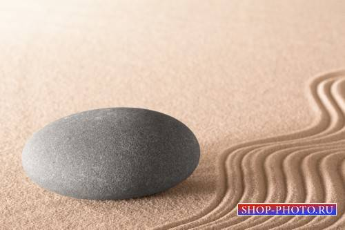 Spa background with sand and stones - stock photos