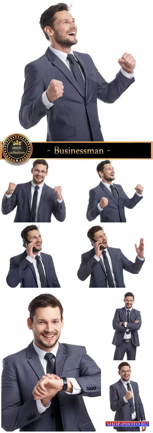 Businessman, human emotions - stock photos