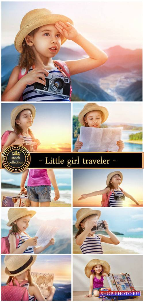 Little girl traveler - stock photos