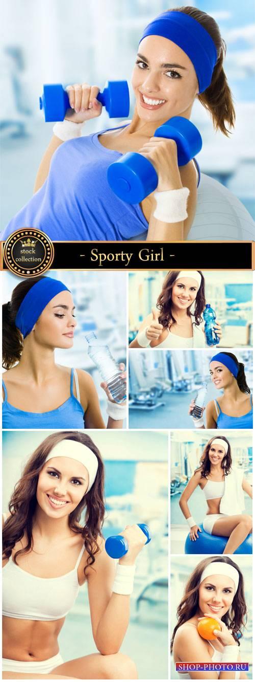 Sporty Girl , fitness - stock photos