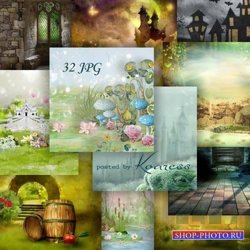 Набор фонов для дизайна - Волшебный мир