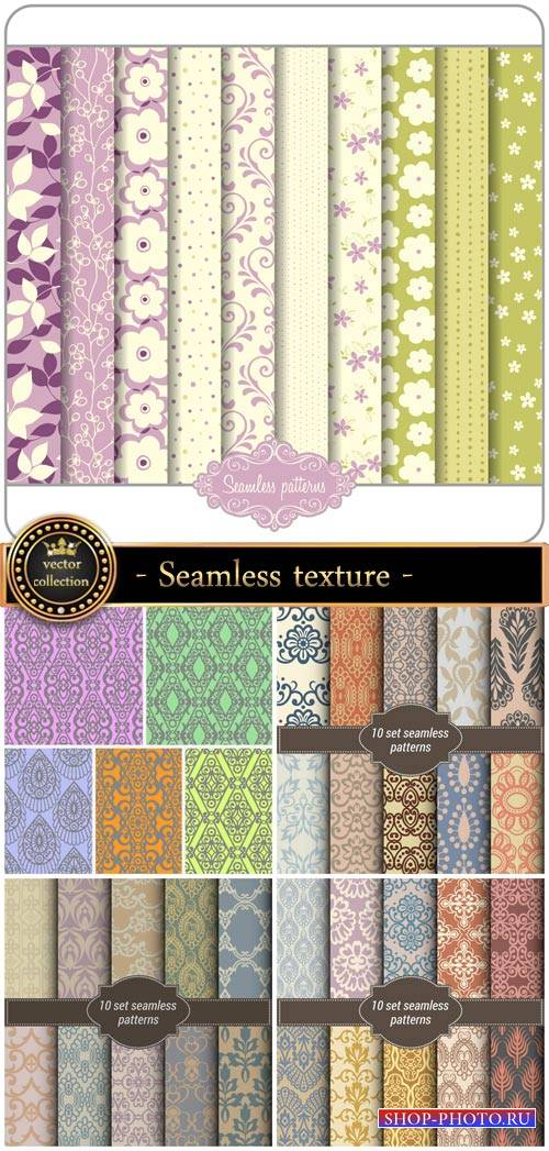 Seamless texture with vintage patterns, backgrounds vector