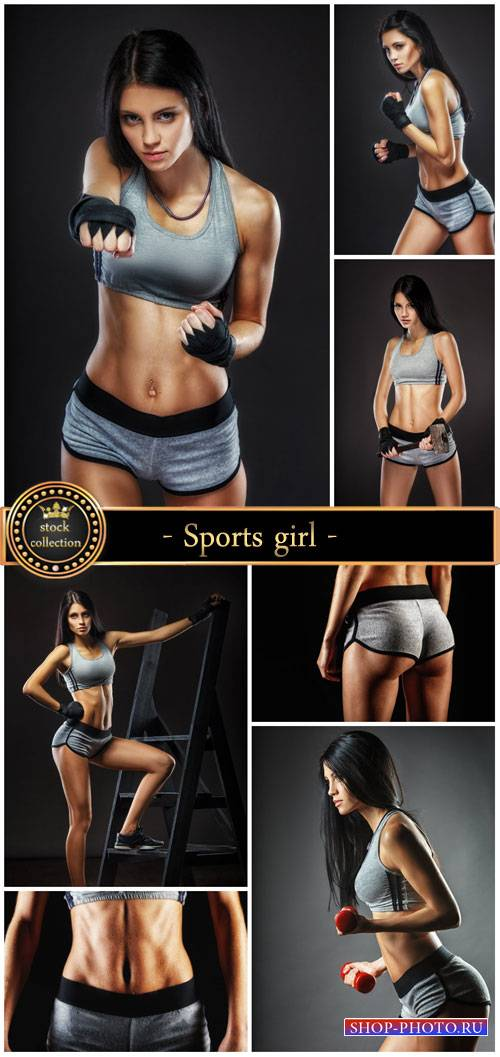 Sports girl, fitness and sports - stock photos