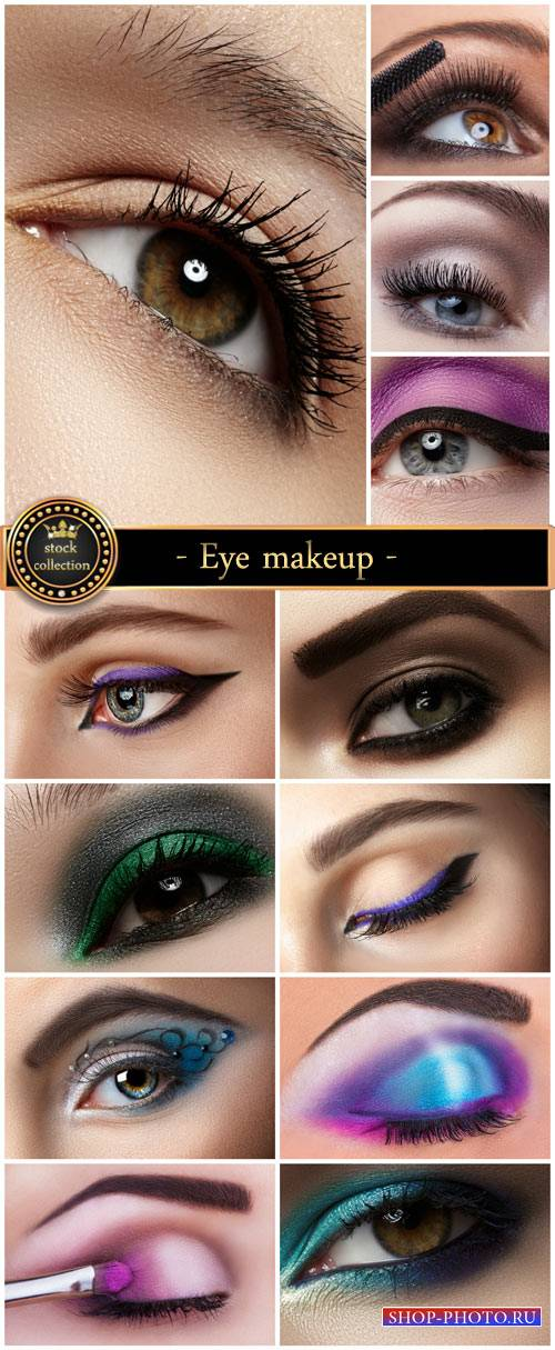 Eye makeup, women's eyes - stock photos