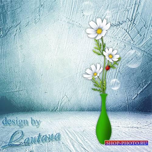 PSD исходник - Ваза с цветами