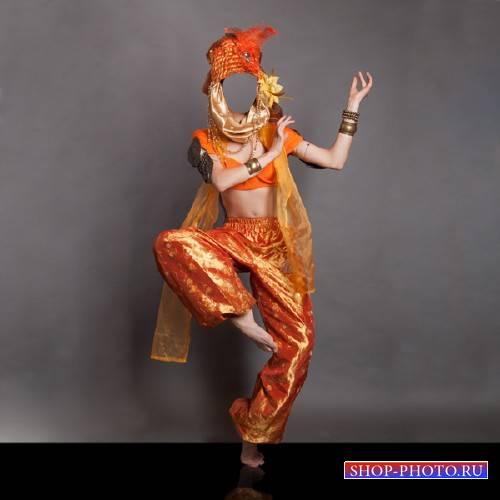 Шаблон для фото - Индийский танец