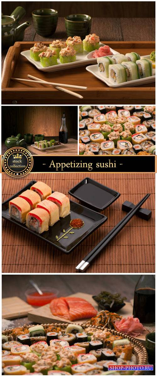 Appetizing sushi - Stock photo