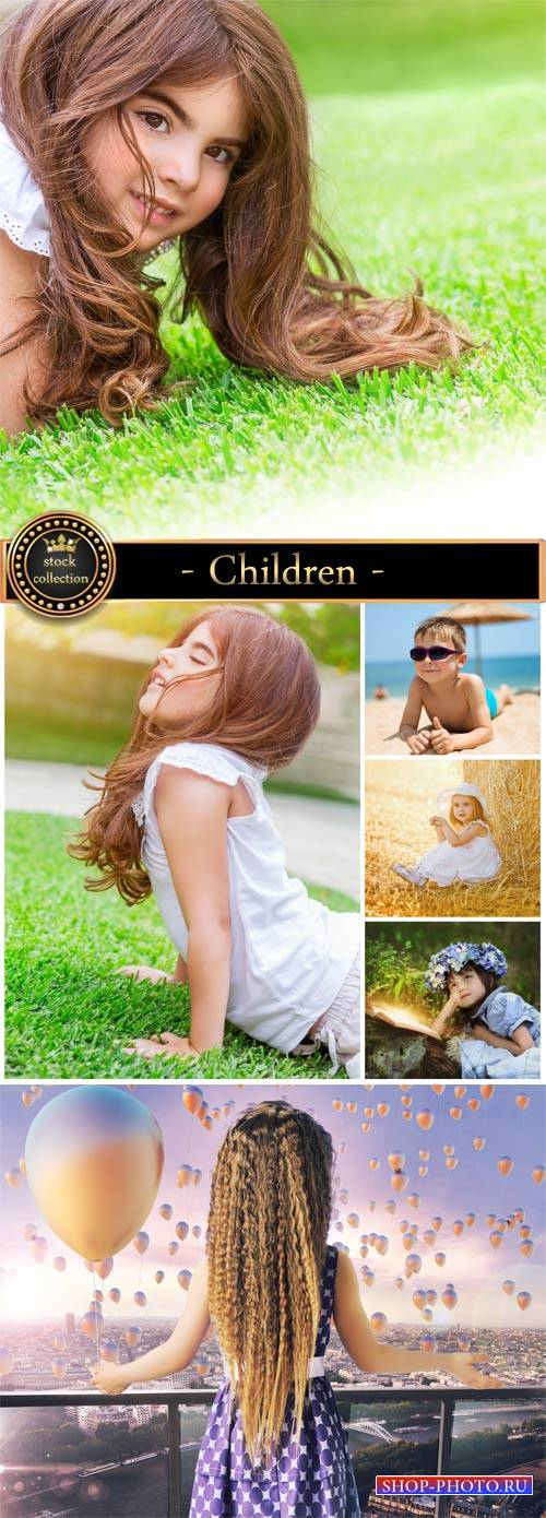Children, little boys and girls - Stock Photo