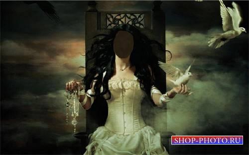 Шаблон psd женский - Загадочная девушка