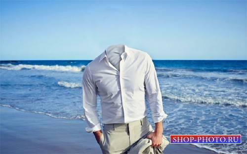 Шаблон для Photoshop - На берегу моря